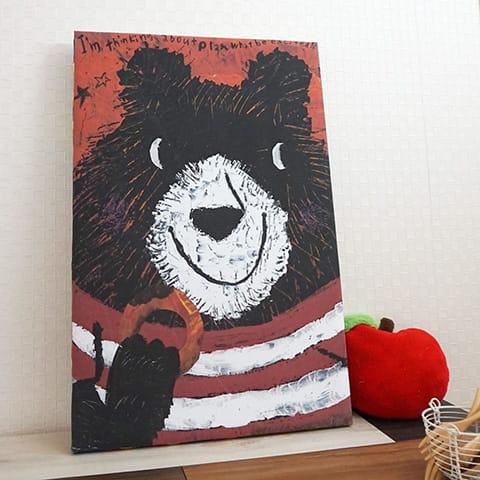 ファブリックパネル【大原 そう】DOUGHNUT BEAR